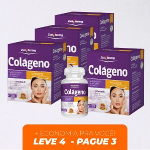 KIT BELEZA - LEVE 4 PAGUE 3 - Colágeno VERISOL - 500 Mg - 120 Cápsulas - Zuri  Strong