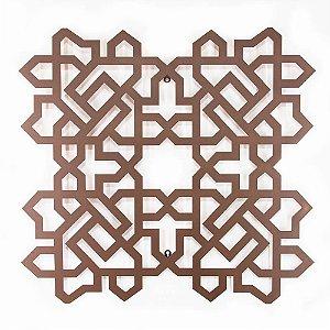 Escultura de Parede Quadrado Árabe