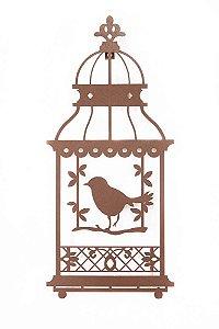 Escultura de Parede Gaiola Pássaro no Balanço