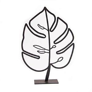 Escultura de Mesa Folha Costela de Adão