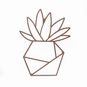 Escultura de Parede Origami Geométrico Vaso de Planta 1 Aço Galvanizado