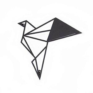 Escultura de Parede Origami Geométrico Pássaro Voando 1 Aço Galvanizado