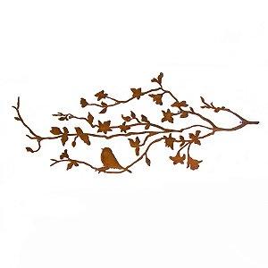 Escultura de Parede Pássaro no Galho