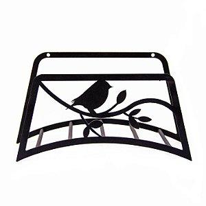 Suporte Mangueira Jardim Pássaro no Galho de Aço Galvanizado