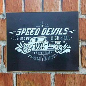 Placa em MDF 23 x 18 Speed Devils