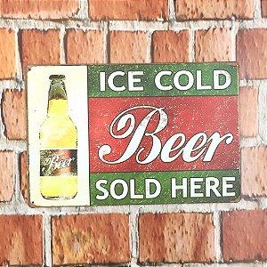 Placa em Metal Vintage Cerveja 30cm x 20cm Cerveja1