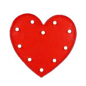 Luminária Coração LED Decorativo Vermelho 34,5cm