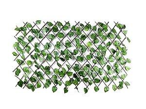 Treliça em Madeira com Folhas de Hera Artificial Pequena