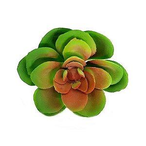 Mini Suculenta em Silicone Verde Centro Mesclado