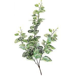Pendente Folhagem com Folhas de  Maranta Verde Branca 84cm