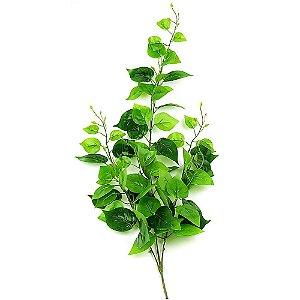 Pendente Folhagem com Folhas de Jiboia Verde Escuro 84cm