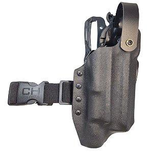 COLDRE KYDEX OWB 2R - EXTERNO – SIG SAUER M17 + LANTERNA (OLIGHT/SUREFIRE/STREAMLIGHT)