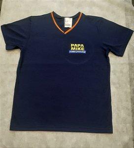 Camiseta Manga Curta marinho, Colégio Papa Mike