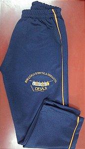 Calça em helanca azul marinho, Cordel da Vila
