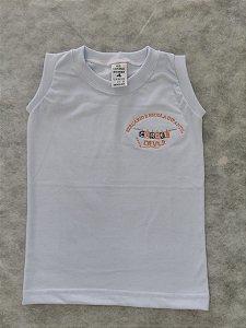 Camiseta regata branca Cordel da Vila