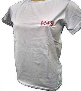 Camiseta manga curta branca SESI