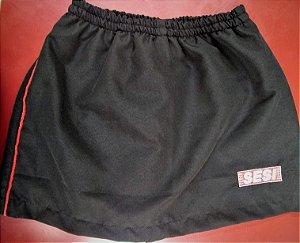 Short saia microfibra (tactel), SESI bordado