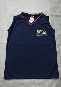 Camiseta Regata marinho Colégio Papa Mike