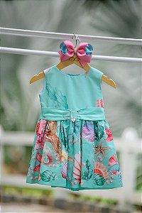 Vestido Taci Fundo do Mar Baby