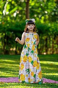 Vestido Longo Taci Abacaxi Festa
