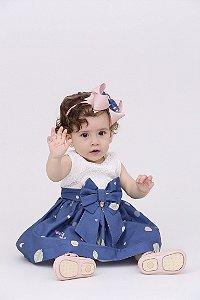Vestido Taci Fada com Renda Baby