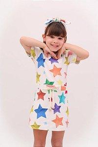 Vestido Taci Estrela Tubinho Malha