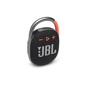 CAIXA DE SOM BLUETOOTH 5W CLIP4 PRETA/LARANJA JBLCLIP4BLKO JBL