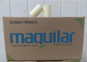 BOBINA 57X22 TERMICA AMARELA MAQUILAR COM 56 UNIDADES