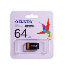 PENDRIVE 64GB PRETO ADATA AUD23064GRBK
