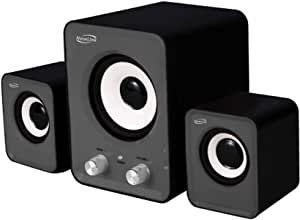 CAIXA DE SOM 2.1 POWER SONG COM SUBWOOFER 16W RMS NEWLINK SP202