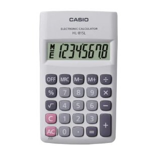 CALCULADORA DIGITAL HL815L BRANCA CASIO