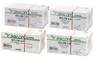 Fio Sutura Nylon Preto 45cm C/24 - Shalon