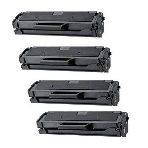 Kit 4 Cartuchos de Toners Compatíveis para Samsung ML2165 l MLTD101S Novos