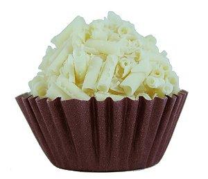 Brigadeiro Gourmet de Chocolate Branco - Receita Tradicional - Caixa Com 30 Unidades