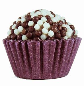 Brigadeiro Gourmet Crispy Preto e Branco de Chocolate Ao Leite Belga - Receita Tradicional - Caixa Com 30 Unidades