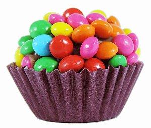Brigadeiro Gourmet M&Ms Confete Colorido Chocolate Ao Leite Belga - Caixa Com 30 Unidades