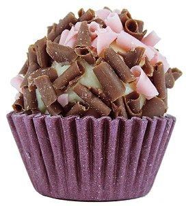 Brigadeiro de Champanhe Gourmet Com Split de Chocolate Belga de Morango e Chocolate- Light - Caixa Com 30 Unidades