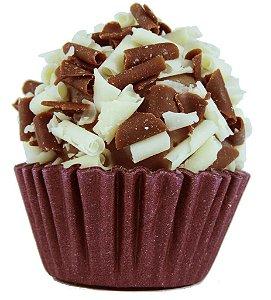 Brigadeiro de Amarula Gourmet Com Split de Chocolate Belga Branco e Ao Leite- Light - Caixa Com 30 Unidades