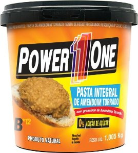 Pasta de Amendoim Integral Zero Açúcar Crocante Power 1 One | Brazil Nutrition