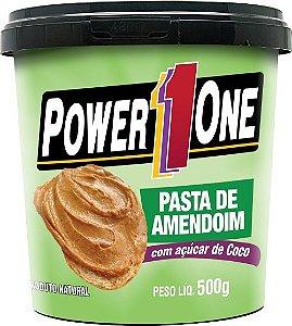 Pasta de Amendoim Integral com Açúcar de Coco Power1One | Brazil Nutrition
