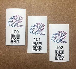 500 Etiquetas de Nylon com Numeração e QRcode Sequencial