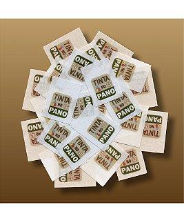 2 LOTES de Etiquetas Personalizadas em Algodão Branco, Natural ou Cru