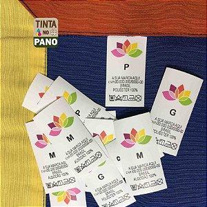 500 Etiquetas Personalizadas em Nylon Resinado