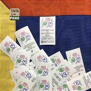 2000 Etiquetas Personalizadas em Nylon Resinado