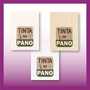 300 Etiquetas Personalizadas em Tecido de Algodão Branco, Natural ou Cru