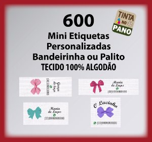 600 Mini Bandeirinha/Palito para Laços ou Pequenos Artesanatos