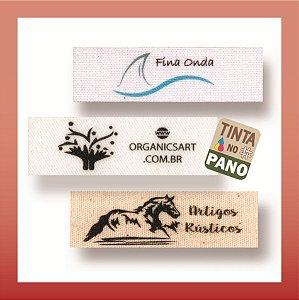 1000 Etiquetas Pequenas em Tecido 100% Algodão Branco, Natural ou Cru