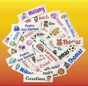 70 Etiquetas Termocolantes Escolar Personalizada para Uniforme