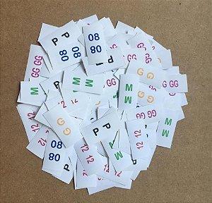 1000 Mini Etiquetas da grade de tamanhos em Nylon Resinado