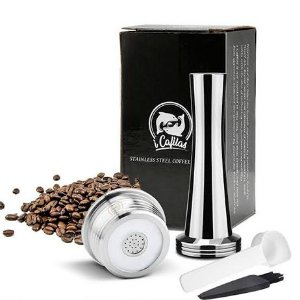 Cápsula Reutilizável em Aço Inoxidável para café expresso (modelo silver) - Cafeteiras Nespresso
